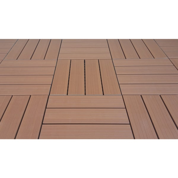 Shop Superwood Deck Tiles Composite Cedar Snap To