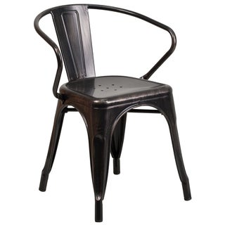 Antique Metal Chair with Arms