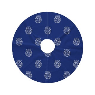 Round Fancy-bulb Holiday Print Tree Skirt