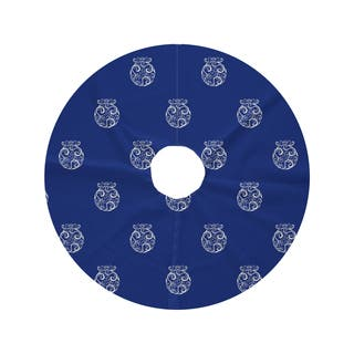 Round Fancy Bulb Holiday Print Tree Skirt
