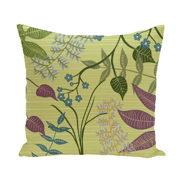 Botanical Floral Print Outdoor 18-inch Pillow