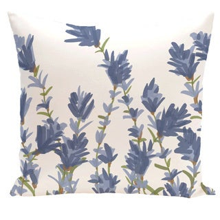 Lavender Floral Print Outdoor 20-inch Pillow