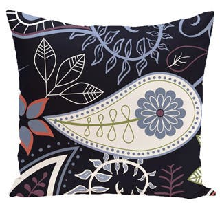 Paisley Floral Print Outdoor 18-inch Pillow