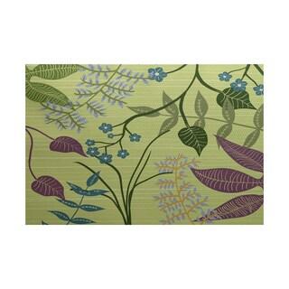 Botanical Floral Print Rug (4' x 6')