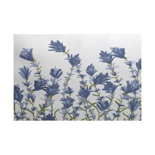 Lavender Floral Print Rug (2' x 3')