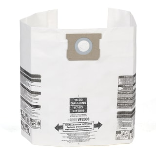 Multi-fit VF2008 3-pack General Dust Filter Bag for Most 15 to 22 gal. Shop-Vac, Genie Shop Vacuum Cleaners