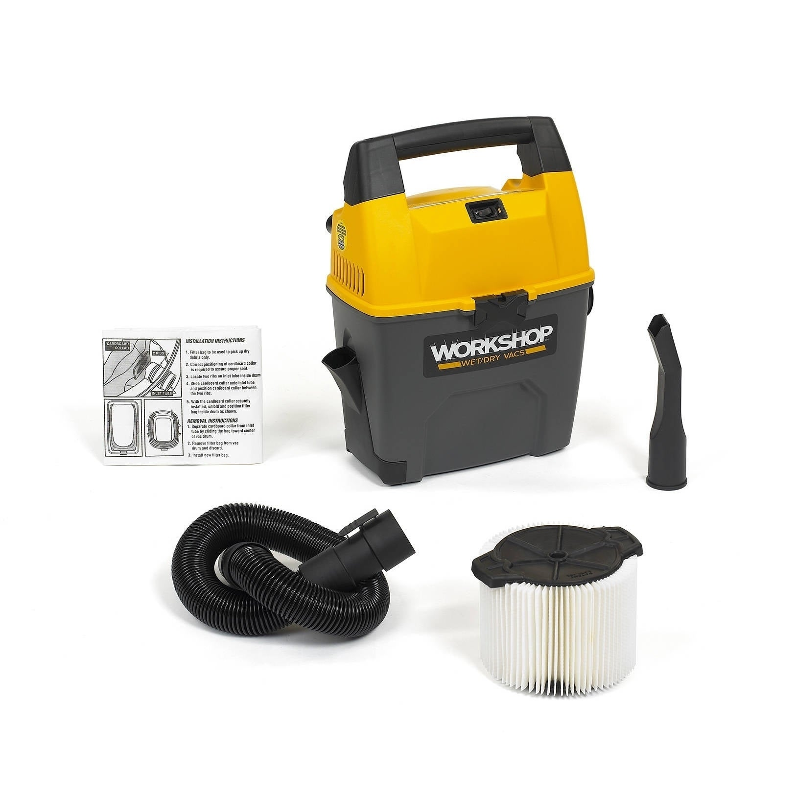 ProTeam WORKSHOP Wet/Dry Vacs 3 Gallon 3.5 Peak HP Portable Wet / Dry Vacuum