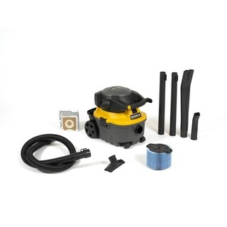 WORKSHOP WS0400DE 4 gal. 6.0 Peak HP Portable Wet/ Dry Vac and Blower - Black