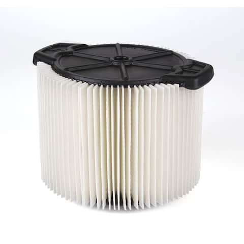 WORKSHOP WS11045F 3 to 4.5-gal. Standard Filter for Wet Dry Vac - White
