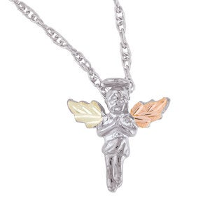 Black Hills Gold over Silver Angel Pendant