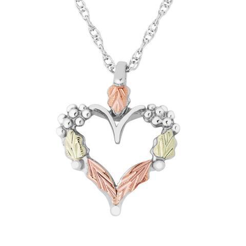 Black Hills Gold on Silver Heart Pendant