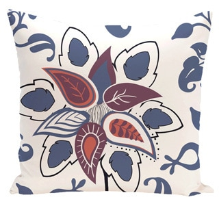 Paisley Pop Floral Print 20-inch Outdoor Pillow