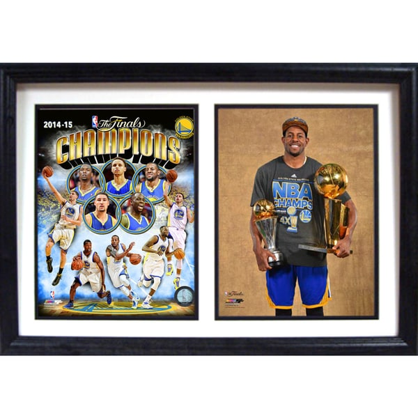 12x18 Double Frame - 2015 NBA Champions Golden St. Warriors