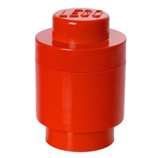 LEGO Bright Red Round Storage Brick 1