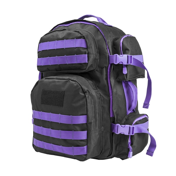 NcStar Tactical Backpack Black w/Purple