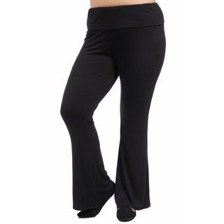 24/7 Comfort Apparel Women's Plus Size Straight Leg Pant|https://ak1.ostkcdn.com/images/products/10759203/P17812075.jpg?impolicy=medium