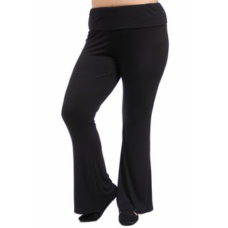 24/7 Comfort Apparel Women's Plus Size Straight Leg Pant