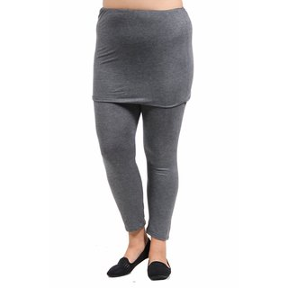 24/7 Comfort Apparel Women's Plus Size Layered Legging