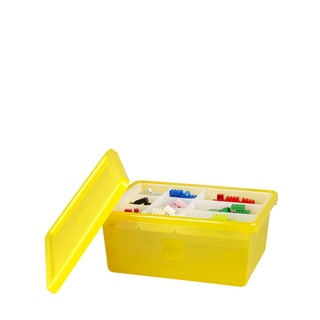 LEGO Yellow Medium Storage Box with Lid