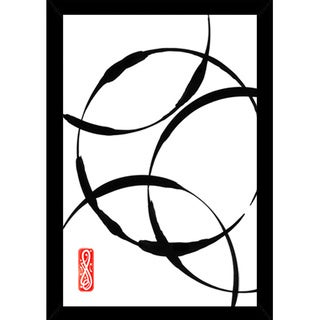 Zen Circles 2 Print (24-inch x 36-inch) with Traditional Black Frame