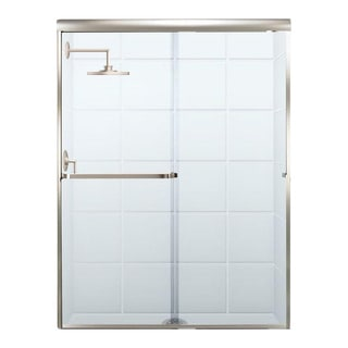 Paragon 3/16 B Series 60 Inches Wide x 65 Inches High Frameless Sliding Shower Door with Towel Bar