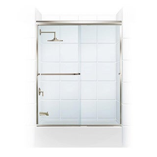 Paragon 3/16 B Series Frameless Sliding Tub Door with Towel Bar