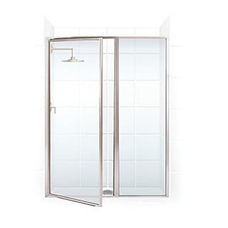 Legend Series Framed Hinge Swing Shower Door with Inline Panel 55 1/2 Inches to 57 Inches Wide x 66 Inches High