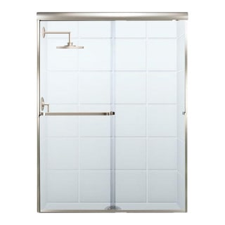 Paragon 3/16 B Series 56 Inches Wide x 69 Inches High Frameless Sliding Shower Door with Towel Bar