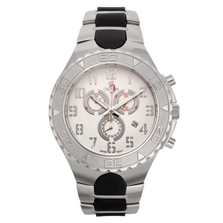 Croton Men's CC311356SSDW Stainless Steel Silvertone Chronograph Watch