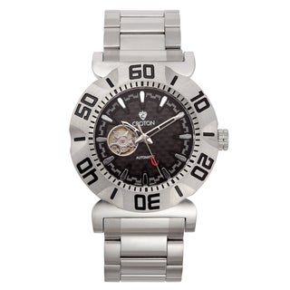Croton Men's CA301284SSBK Carbon Fiber Black Skeleton Automatic Watch