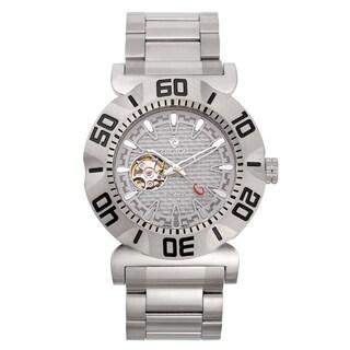 Croton Men's CA301284SSGY Carbon Fiber Grey Skeleton Automatic Watch
