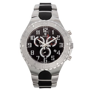 Croton Men's CC311356SSBK Stainless Steel Black Chronograph Watch