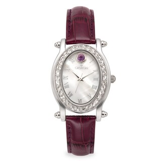 Croton Women's CN207537PPMP Stainless Steel February Birthstone Watch