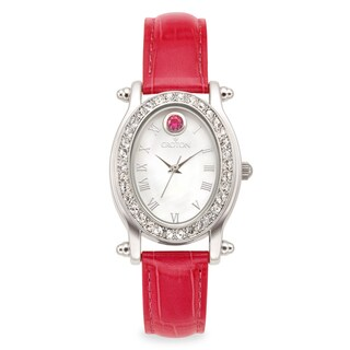 Croton Women's CN207537ROMP Stainless Steel July Birthstone Watch
