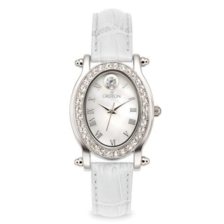 Croton Women's CN207537WHMP Stainless Steel April Birthstone Watch