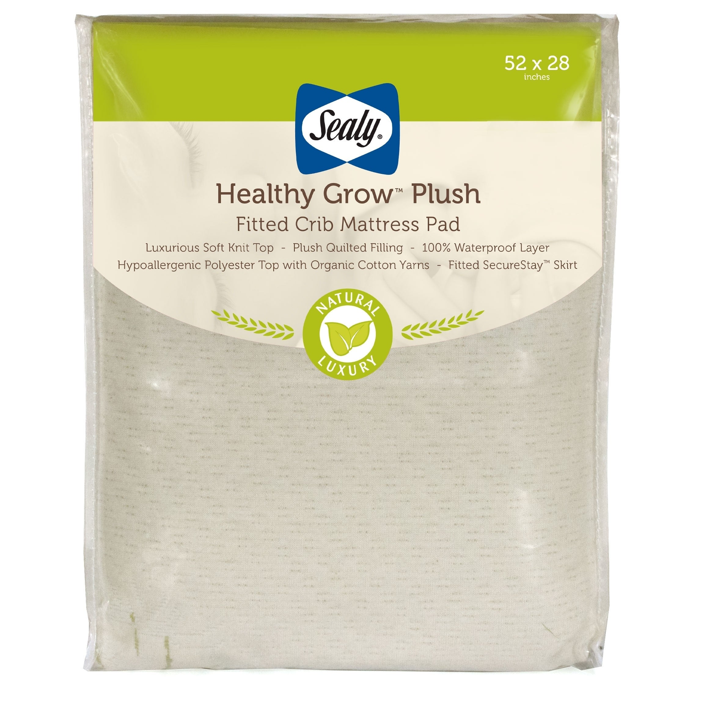 Sealy Healthy Grow Plush Infant Toddler Fitted Crib Mattr...