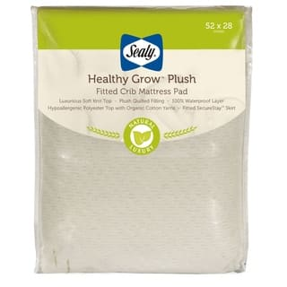 Sealy Healthy Grow Plush Infant Toddler Fitted Crib Mattress Pad with Waterproof Layer|https://ak1.ostkcdn.com/images/products/10759385/P17812250.jpg?impolicy=medium