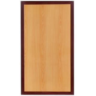 24-foot x 42-foot Rectangular Two-tone Resin Cherry and Mahogany Table Top