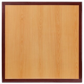 30'' Square Two-Tone Resin Cherry and Mahogany Table Top