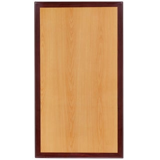 30'' x 48'' Rectangular Two-Tone Resin Cherry and Mahogany Table Top