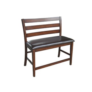 Kona Raisin Ladderback Barstool Bench
