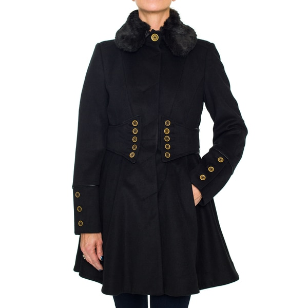Betsey Johnson Fitted Military Coat
