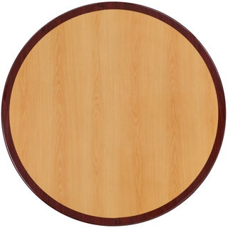 30-inch Round Two-tone Resin Cherry and Mahogany Table Top