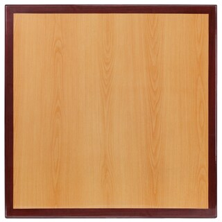 36-foot Square Two-tone Resin Cherry and Mahogany Table Top