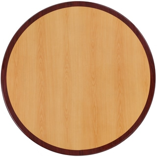 48-foot Round Two-tone Resin Cherry and Mahogany Table Top