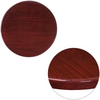 24-foot Round Resin Mahogany Table