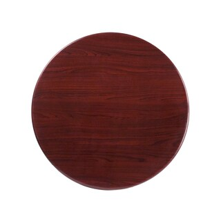 30-foot Round Resin Mahogany Table