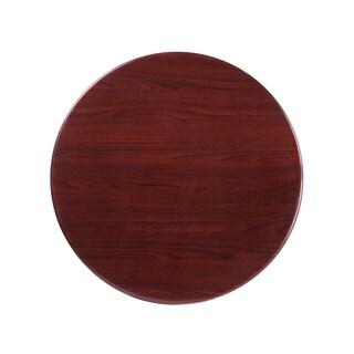 30-foot Round Resin Mahogany Table