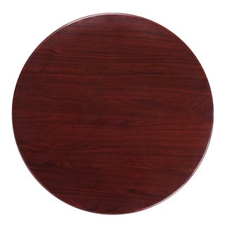 36-foot Round Resin Mahogany Table