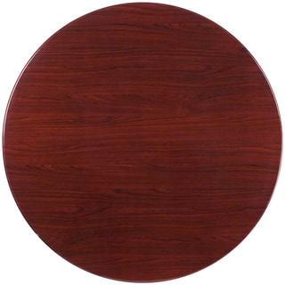"48"" Round Resin Mahogany Table"
